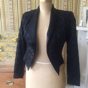 Vintage Black Bolero Tux Jacket